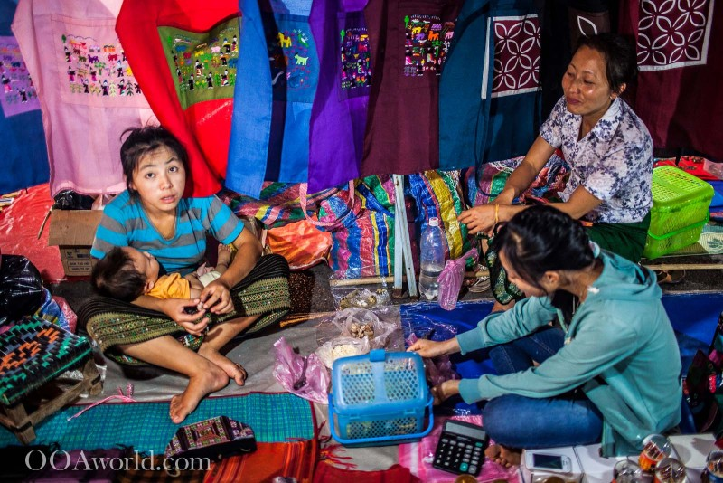 Family in Luang Prabang Laos Market Photo Ooaworld