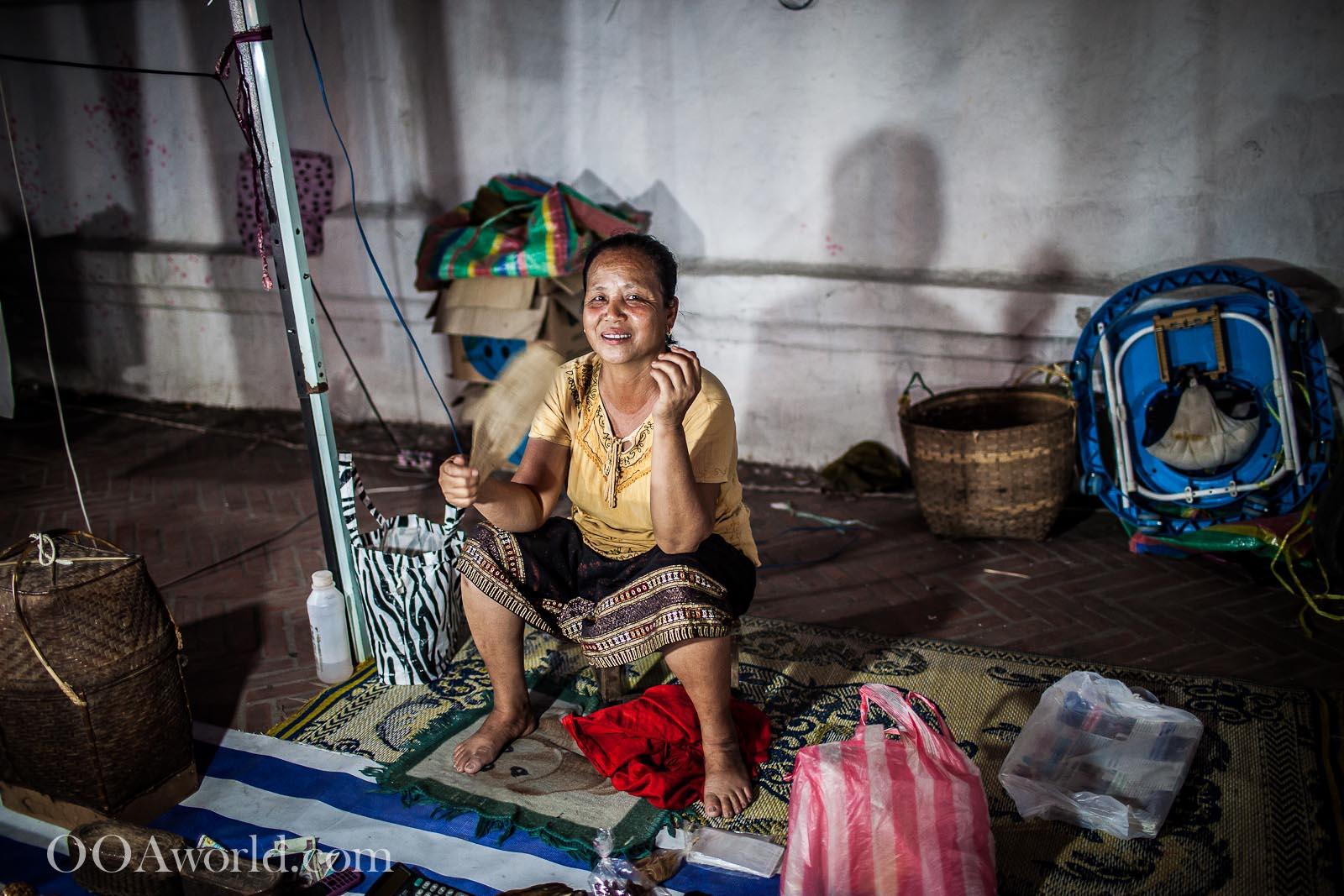 Woman at Luang Prabang Night Market Photo Ooaworld