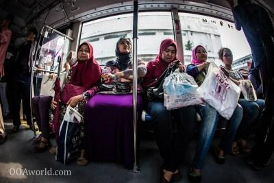 Women Only Bus Jakarta Photo Ooaworld