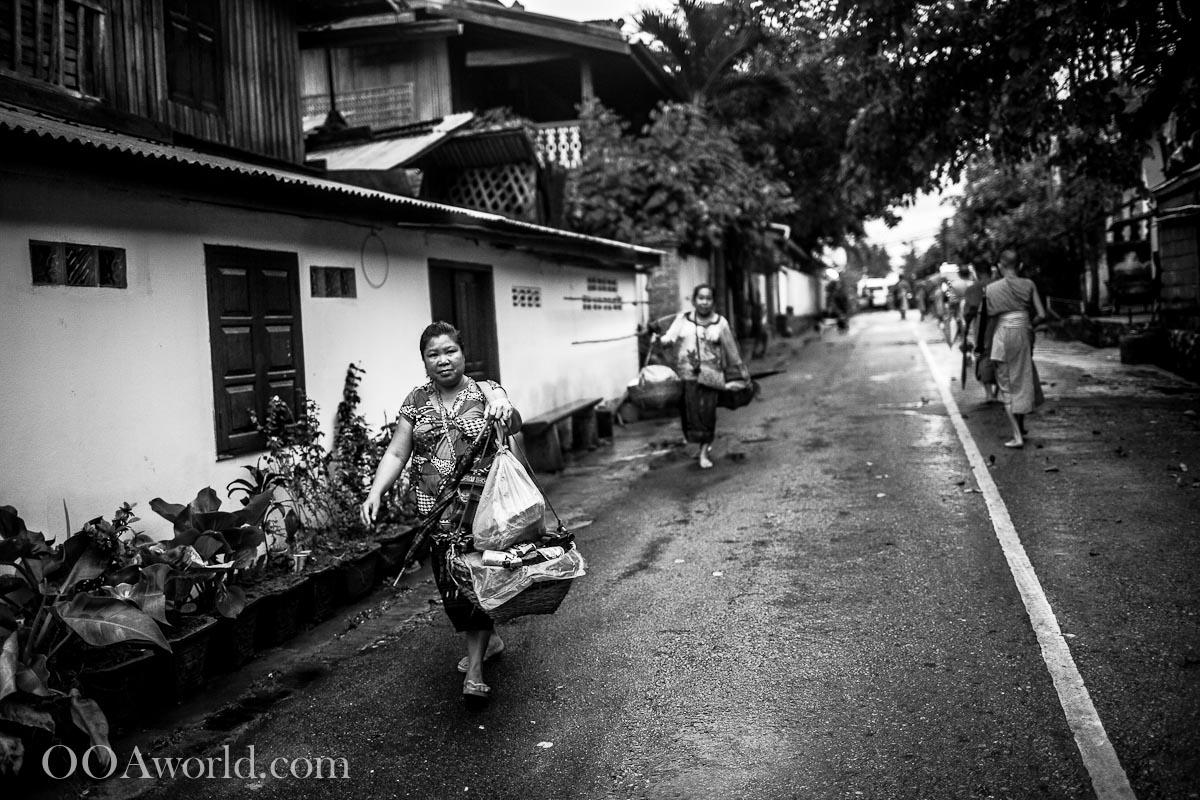 After Alms Giving Luang Prabang Laos Photo Ooaworld
