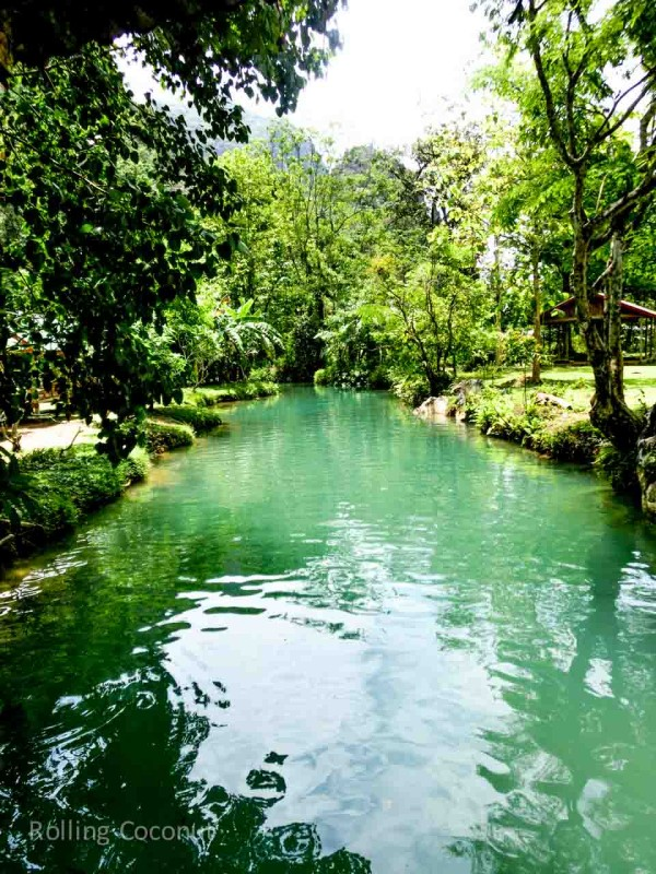 View of Blue Lagoon from the Bridge in Vang Vieng Laos Rolling Coconut Ooaworld Photo Ooaworld