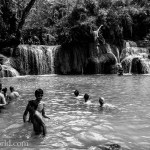 Kuang Si Falls Swimming Photo Ooaworld