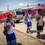 Vang Vieng Umbrellas Photo Ooaworld