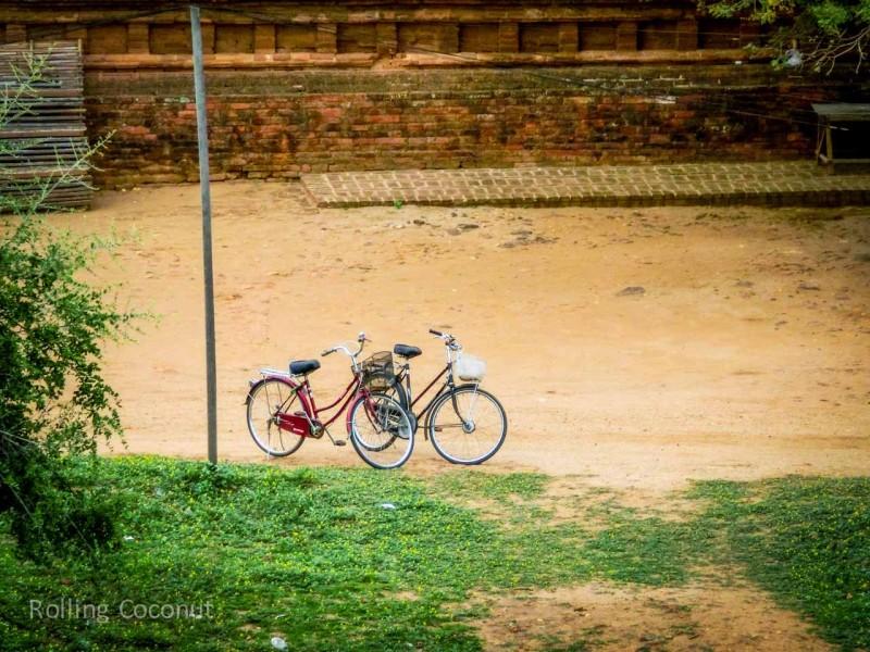 Bicycles Bagan Myanmar Ooaworld Rolling Coconut Photo Ooaworld