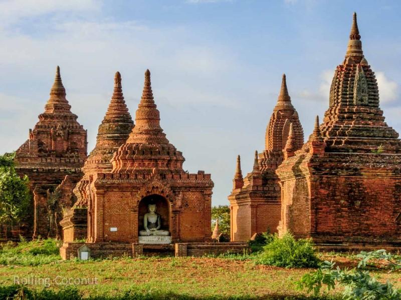 Buddha Statue Stupa Bagan Myanmar Ooaworld Rolling Coconut Photo Ooaworld