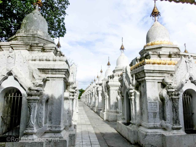 Kuthodaw Pagoda Mandalay Myanmar Photo Ooaworld