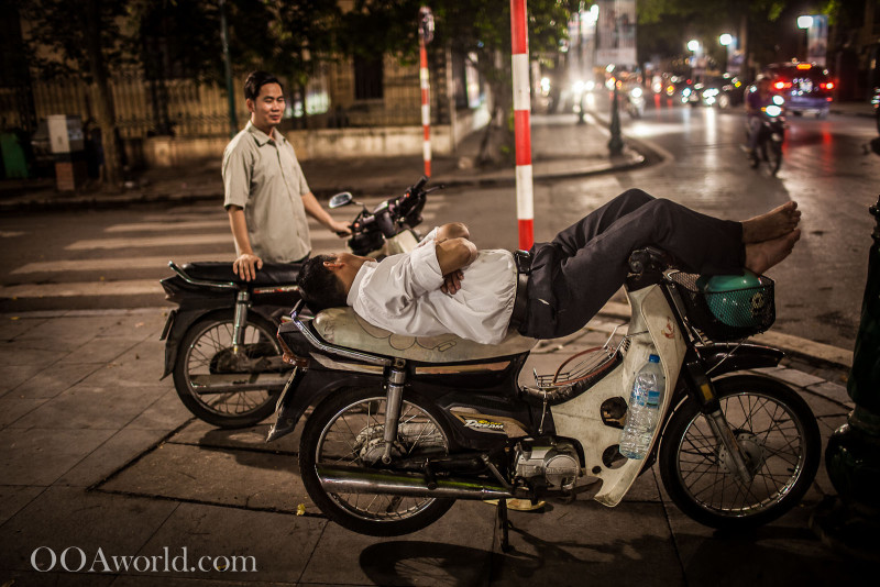 Sleeping on Moped Vietnam Photo Ooaworld