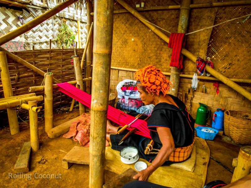 Kalaw Inle Lake Trek Myanmar Local Shop Scarf Photo Ooaworld