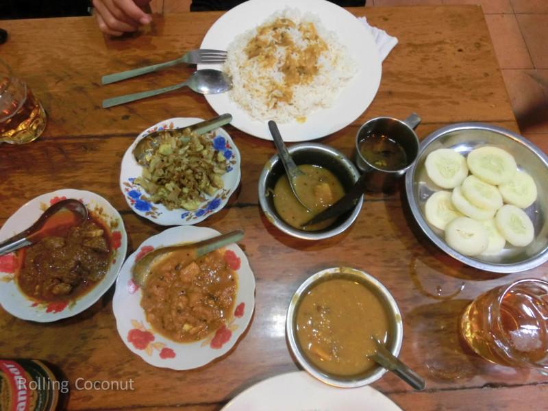 Burmese Food Meal Yangon Myanmar ooaworld Rolling Coconut Photo Ooaworld