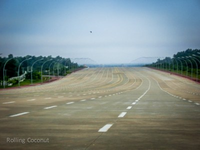 empty roads naypyidaw myanmar ooaworld Rolling Coconut Photo Ooaworld