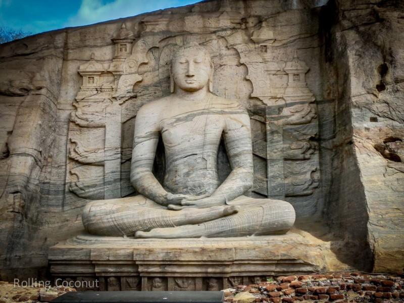 Polonnaruwa Sri Lanka Itinerary Ruins Buddha Statue Photo Ooaworld Rolling Coconut