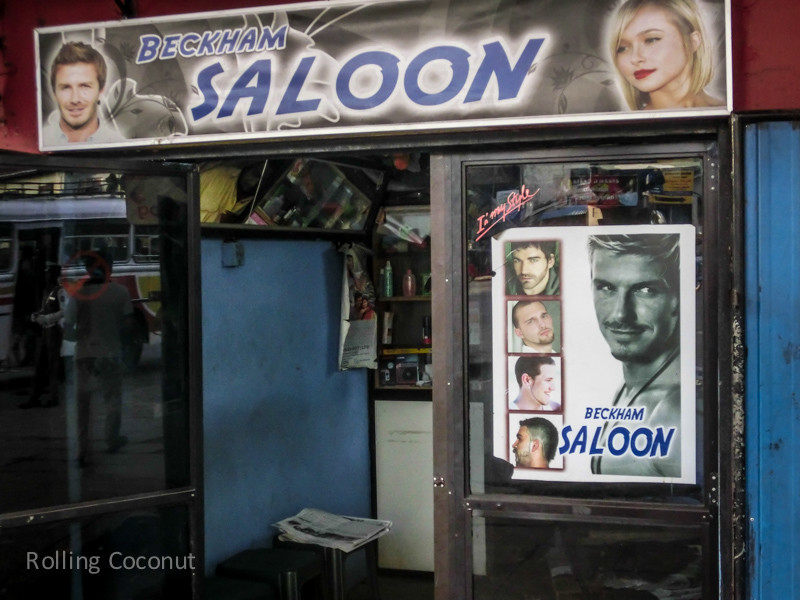 Beckham Saloon Hairdresser Colombo Sri Lanka ooaworld Rolling Coconut Photo Ooaworld