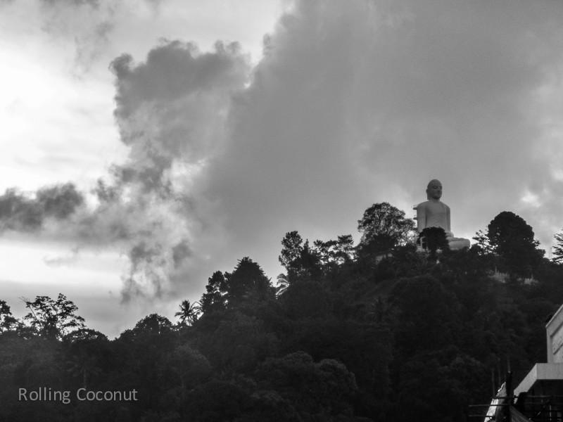 Kandy Big Buddha Statue Hill Sri Lanka ooaworld Rolling Coconut Photo Ooaworld