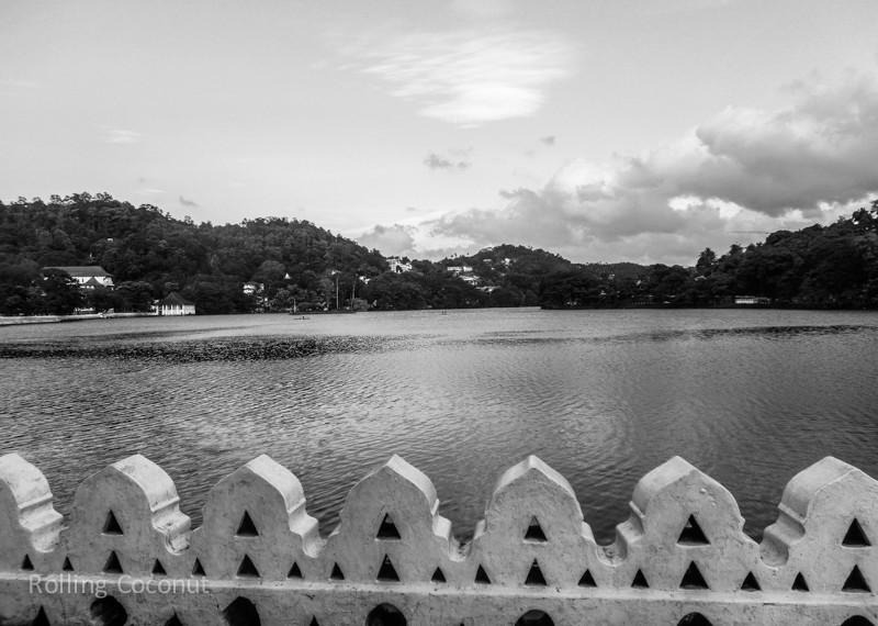 Kandy Lake Stone Fence Sri Lanka ooaworld Rolling Coconut Photo Ooaworld
