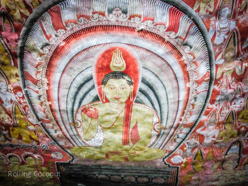 Painting Cave Golden Temple Dambulla Sri Lanka ooaworld Rolling Coconut Photo Ooaworld