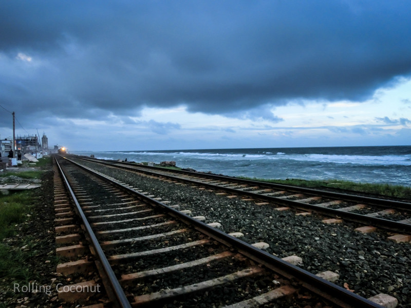 Railway Line Sunset Colombo Sri Lanka ooaworld Rolling Coconut Photo Ooaworld