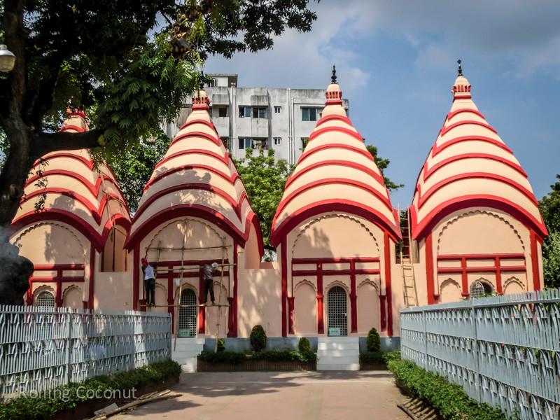 Bangladesh Dhaka Dhakeshwari Temple ooaworld Rolling Coconut Photo Ooaworld