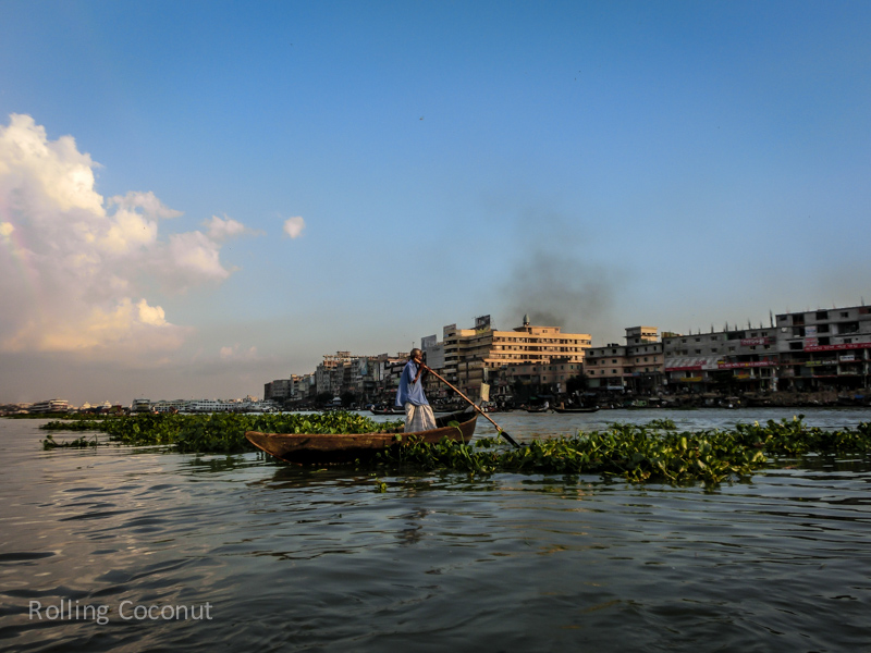 Bangladesh Dhaka Sadarghat Buriganga River boat ride ooaworld Rolling Coconut Photo Ooaworld