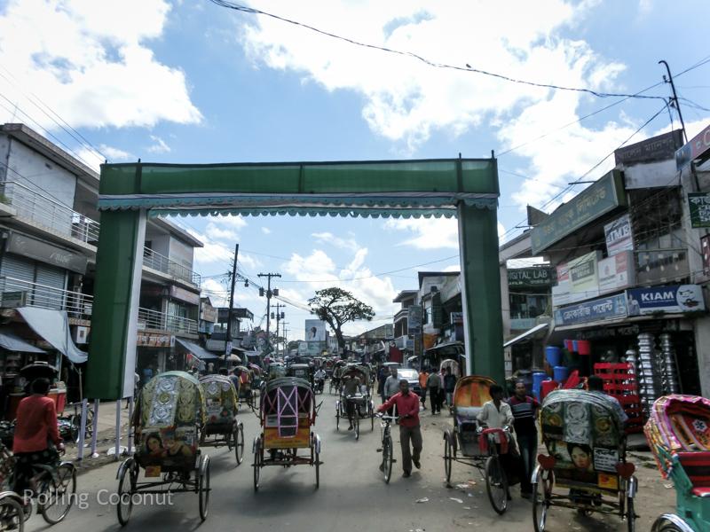 Bangladesh Srimangal Road Rickshaws ooaworld Rolling Coconut Photo Ooaworld