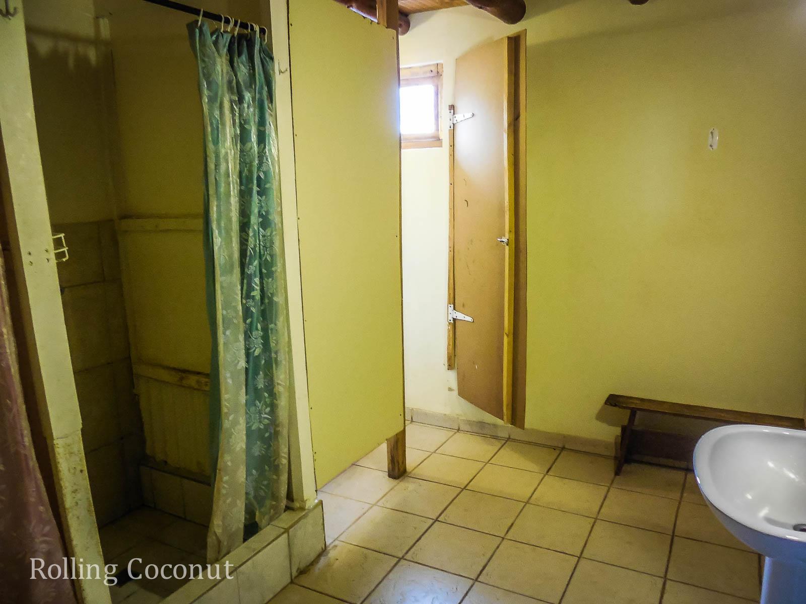 El Chalten Argentina Patagonia Refugio Chalten Bathroom ooaworld Rolling Coconut Photo Ooaworld