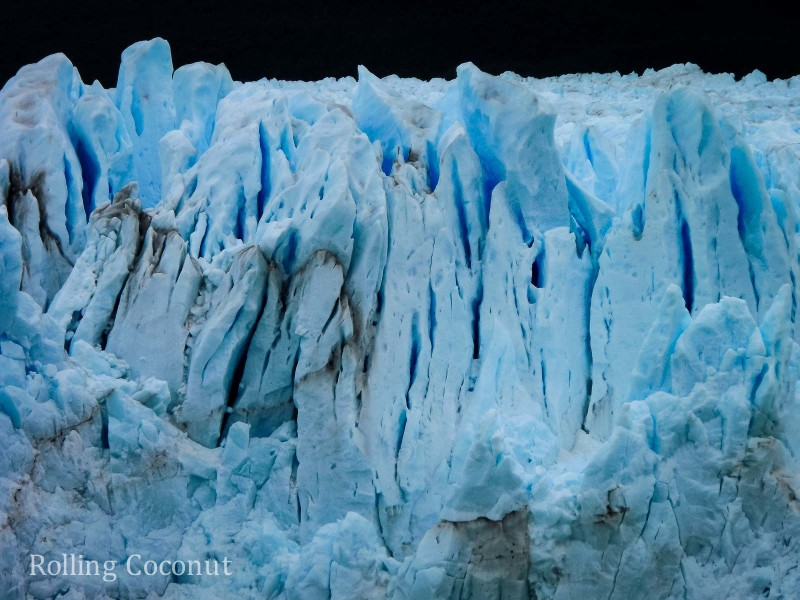 El Calafate Argentina Patagonia Perito Moreno Closeup 2 ooaworld Rolling Coconut Photo Ooaworld