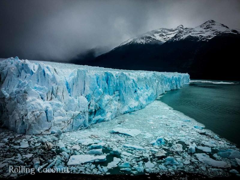 El Calafate Argentina Patagonia Glacier Perito Moreno Glacier Mountain side ooaworld Rolling Coconut Photo Ooaworld