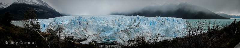 El Calafate Argentina Patagonia Perito Moreno Panoramic ooaworld Rolling Coconut Photo Ooaworld