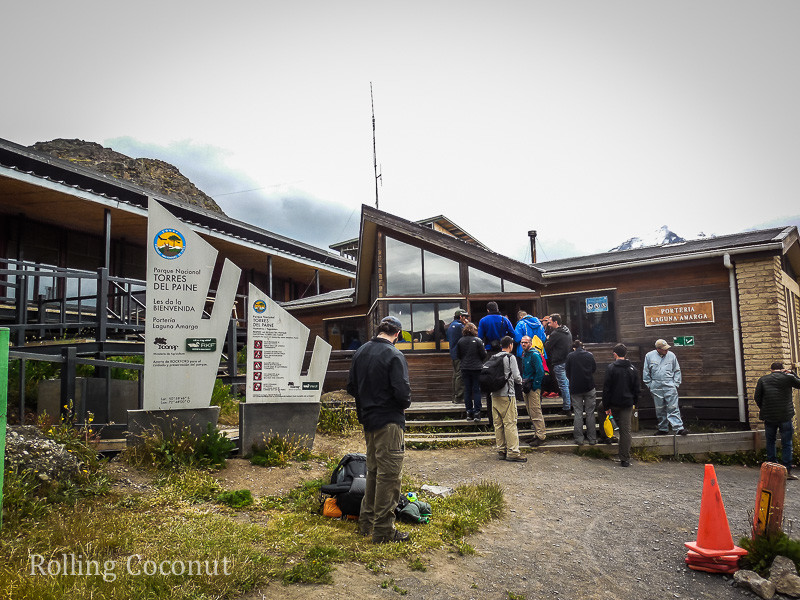 Torres del Paine Chile Entrance Check in Rolling Coconut OOAworld Photo Ooaworld