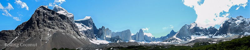 Torres del Paine Chile Valle Ingles Panorama Rolling Coconut OOAworld Photo Ooaworld