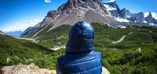 Torres del Paine Chile Sitting and Looking Valle Ingles at Rolling Coconut OOAworld Photo Ooaworld