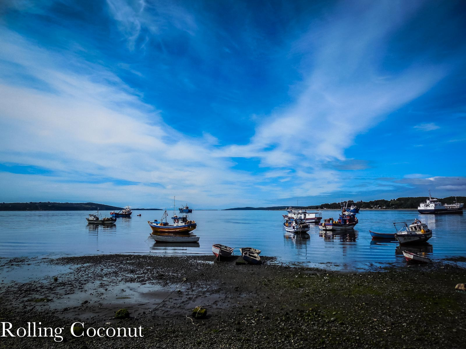 Chile Chiloe Quellon Hostel Quellon Outside View Rolling Coconut OOAworld Photo Ooaworld