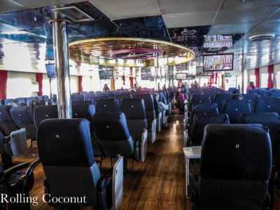 Chile Quellon Naviera Austral Boat Seating Rolling Coconut OOAworld Photo Ooaworld