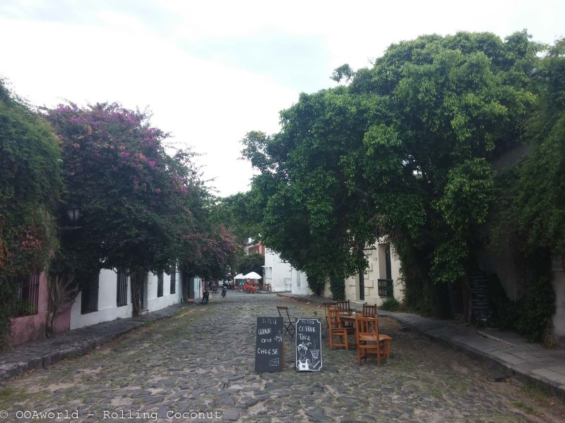 Coffee Street Colonia Uruguay Photo OOAworld Rolling Coconut Photo Ooaworld