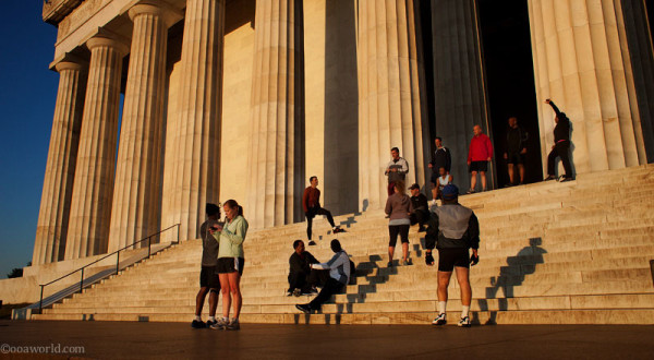 Photos Washington DC Monuments Lincoln Memorial Morning Glory USA road trip photo ooaworld