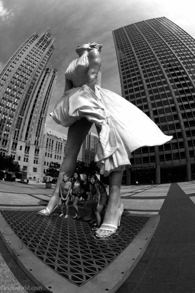 Chicago Marilyn Monroe sculpture