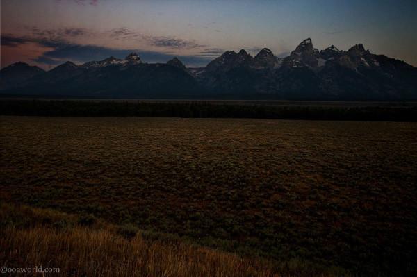Grand Teton, sunrise dawn