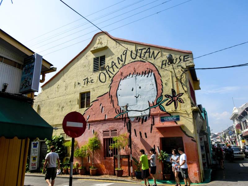 Street Art Melaka Malaysia photo ooaworld Rolling Coconut