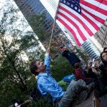 occupy nyc flagman photo ooaworld