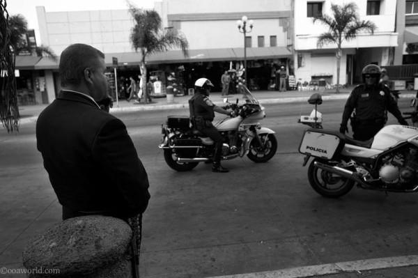 Police in Tijuana streets