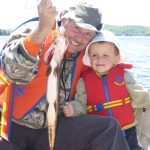 Ben Rinaldo caught his first fish ever when he went fishing with his Dad.