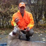 At age 53, Rimas Miknev has harvested his first deer. While still hunting in Norfolk County on Nov. 8, 2014 he encountered this buck, which he took with his Mossberg 500.