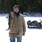 Harland Doige enjoyed a good day of Splake fishing.