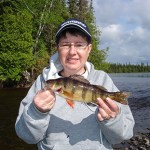 Mike Roy submitted this photo of Nicole Roy holding a perch that she caught while fishing the Floodwood River last spring with Mike.