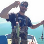 Two Lake Erie perch found the end of Jeremy Chamberlain's line