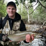 Tyler Bisaillon, 16, from Wahnapitae, joined Nickel City Bass Club this year and caught his first steelhead on May 4, 2014.