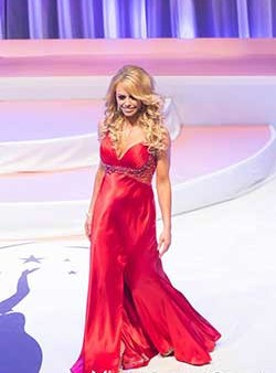 Sarah Eggleton during the gown portion of the Miss Universe Canada 2014 Preliminary Competition.