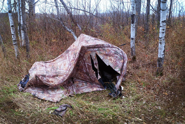 remember - Ripped hunting blind
