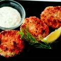 walleye and crab cakes