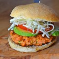 Tasty brook trout burger - finished burger