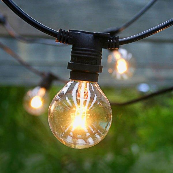outdoor patio lighting string lights Commercial Outdoor Patio Globe String Lights - 54'